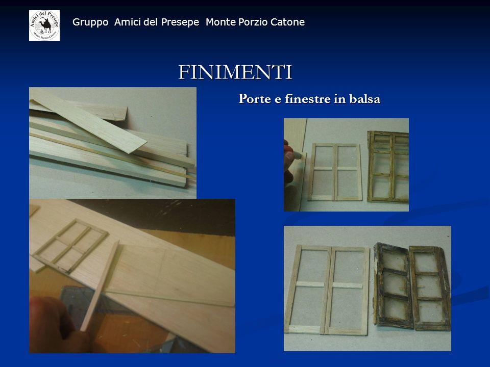 Gruppo Amici del Presepe Monte Porzio Catone FINIMENTI Porte e finestre in balsa