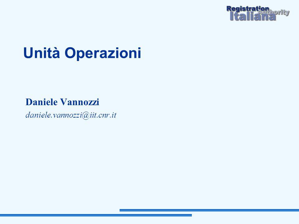 Unità Operazioni Daniele Vannozzi daniele.vannozzi@iit.cnr.it