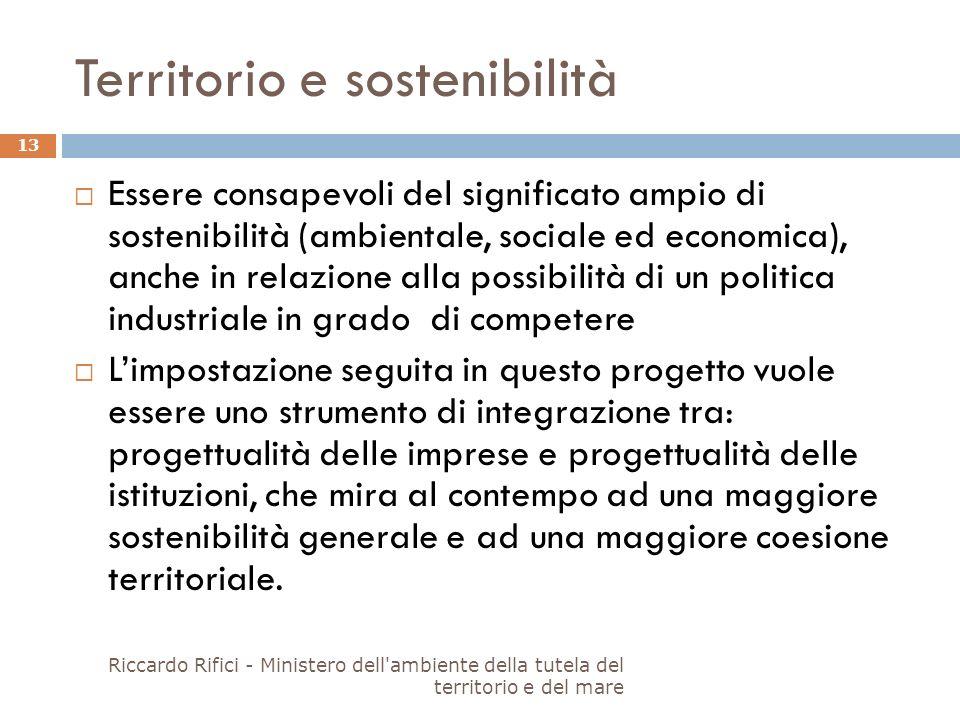 Territorio e sostenibilità Essere consapevoli del significato ampio di sostenibilità (ambientale, sociale ed economica), anche in relazione alla possi