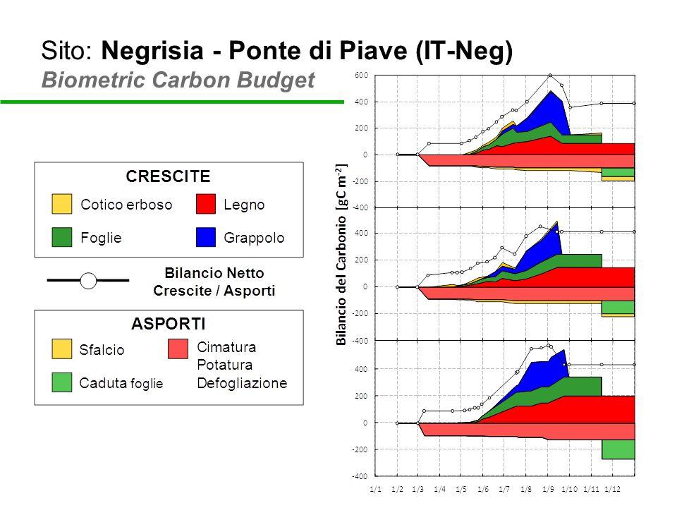 Sito: Negrisia - Ponte di Piave (IT-Neg) Biometric Carbon Budget