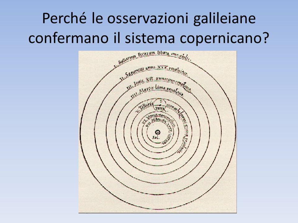 Perché le osservazioni galileiane confermano il sistema copernicano?