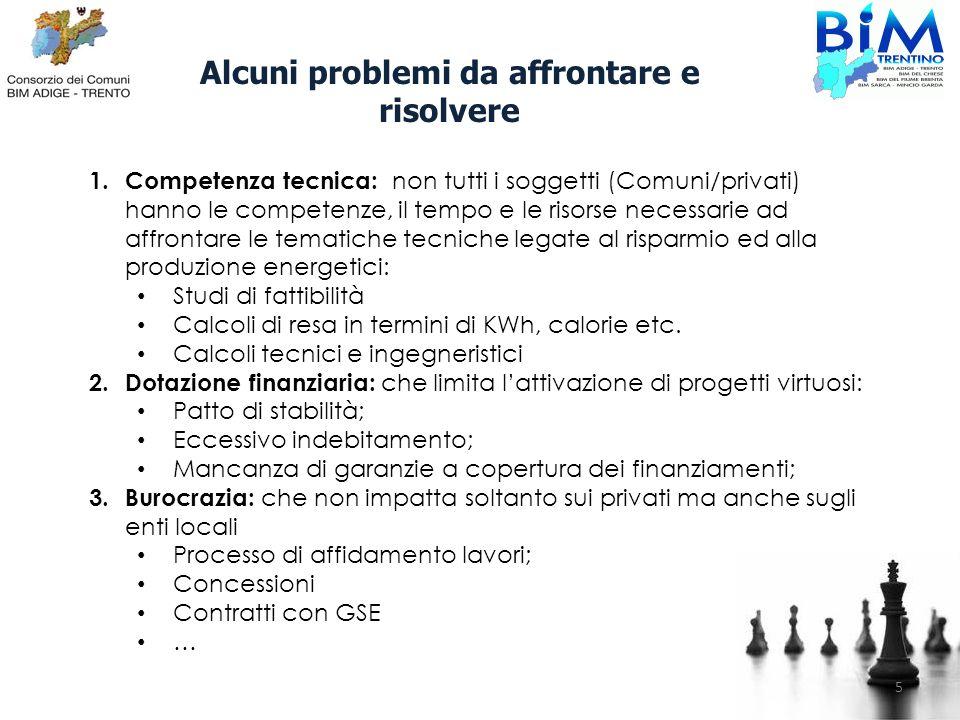 Alcuni problemi da affrontare e risolvere 1. Competenza tecnica: non tutti i soggetti (Comuni/privati) hanno le competenze, il tempo e le risorse nece