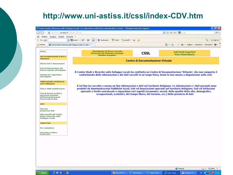 http://www.uni-astiss.it/cssl/index-CDV.htm