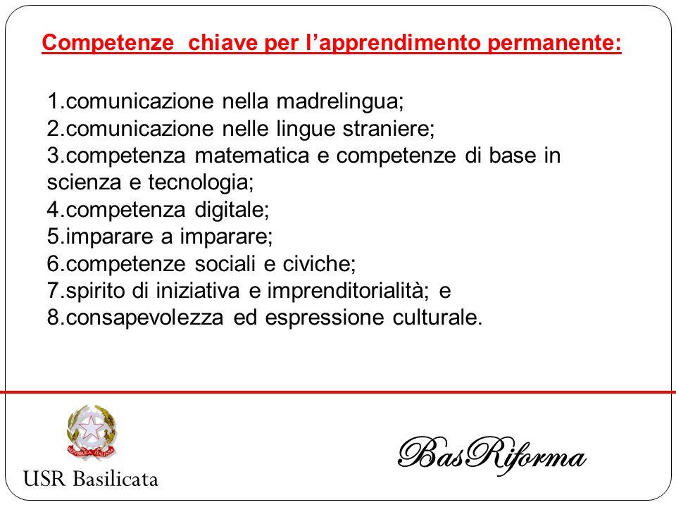 USR Basilicata BasRiforma CLIL Formazione ministeriale Scadenza domande: 20 gennaio 2010 Formazione Basriforma