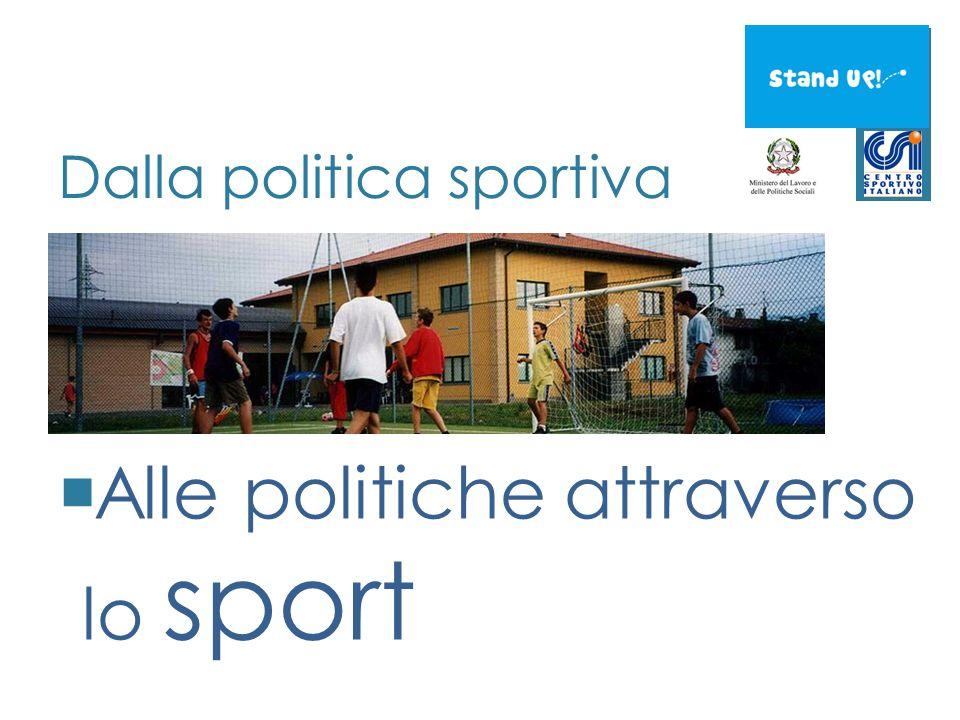Dalla politica sportiva Alle politiche attraverso lo sport