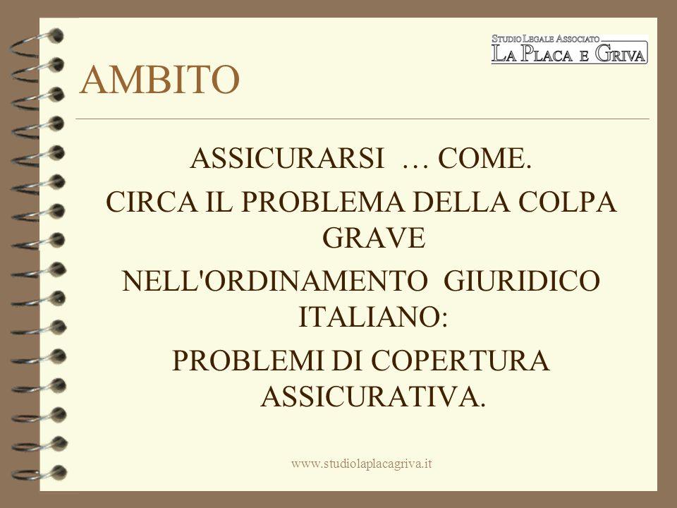 LA COLPA GRAVE EVOLUZIONE NEL TEMPO www.studiolaplacagriva.it