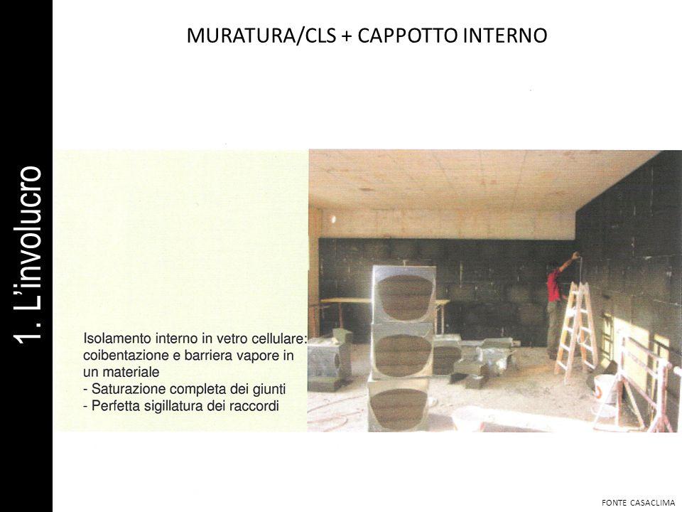 MURATURA/CLS + CAPPOTTO INTERNO FONTE CASACLIMA 1. Linvolucro