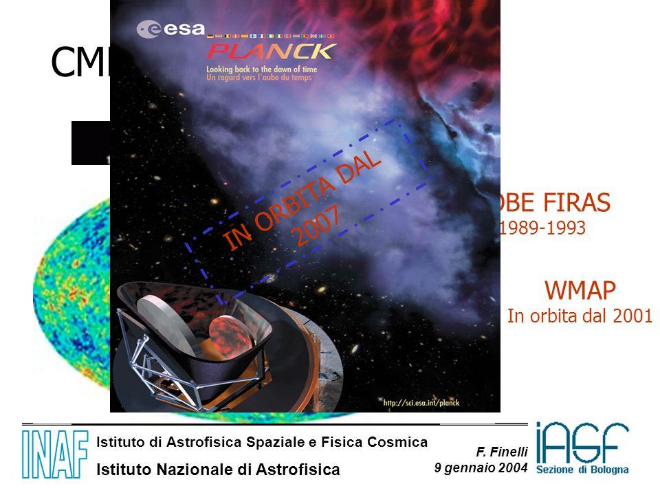 Istituto di Astrofisica Spaziale e Fisica Cosmica Istituto Nazionale di Astrofisica F. Finelli 9 gennaio 2004 COBE FIRAS 1989-1993 WMAP In orbita dal