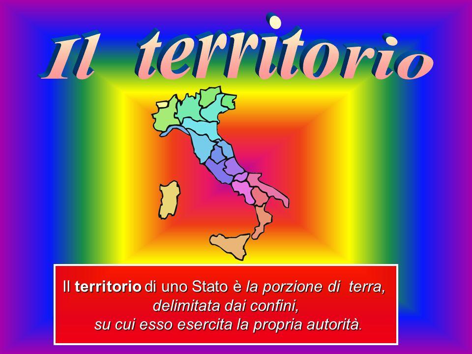 Il territorio di uno Stato è la porzione di terra, delimitata dai confini, su cui esso esercita la propria autorità.