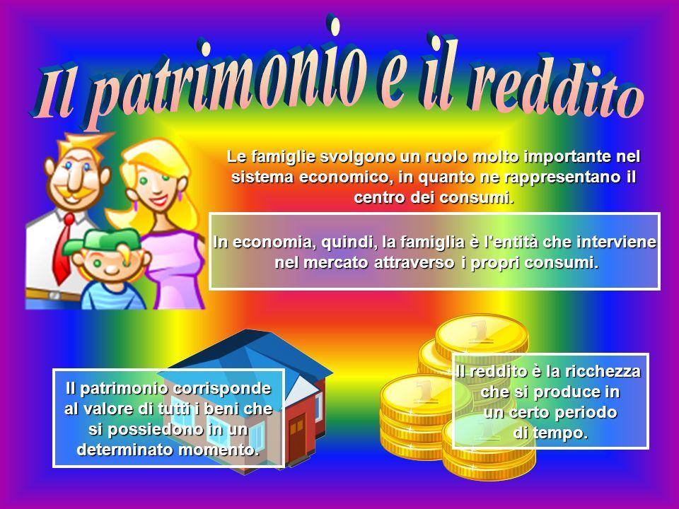 Le famiglie svolgono un ruolo molto importante nel sistema economico, in quanto ne rappresentano il centro dei consumi.