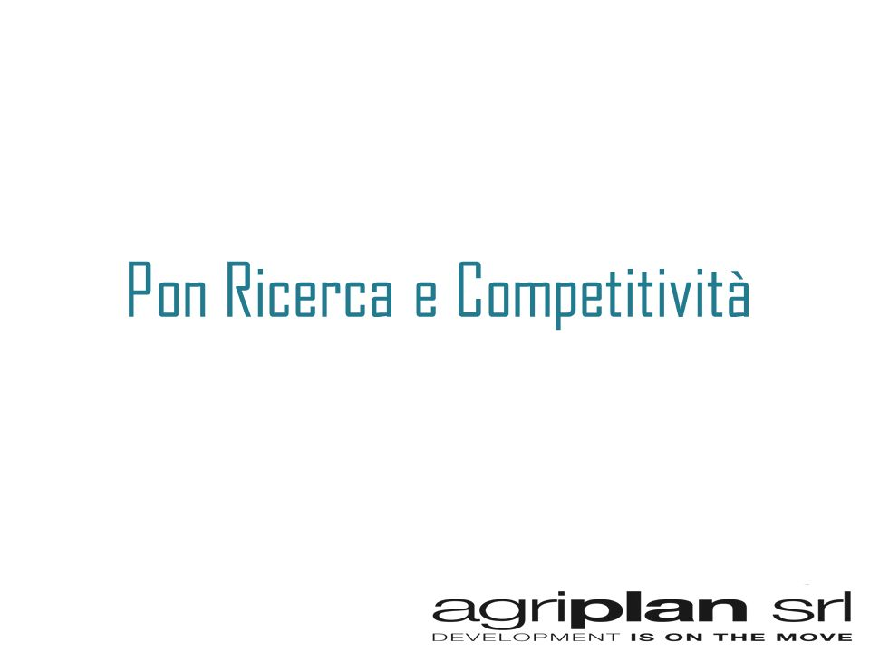 Pon Ricerca e Competitività