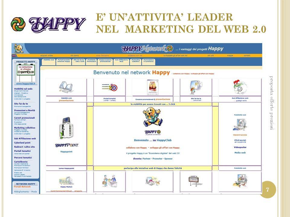 E UNATTIVITA LEADER NEL MARKETING DEL WEB 2.0 proposta offerte preziosi 7