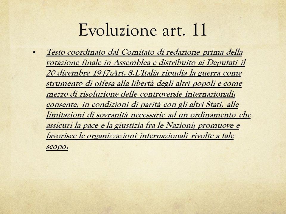 Evoluzione art.