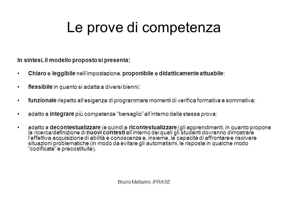 Le prove di competenza In sintesi, il modello proposto si presenta: Chiaro e leggibile nellimpostazione, proponibile e didatticamente attuabile; fless