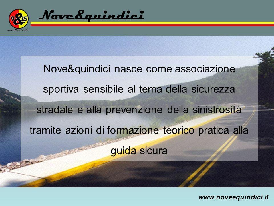 www.noveequindici.it Nove&quindici Nove&quindici nasce come associazione sportiva sensibile al tema della sicurezza stradale e alla prevenzione della
