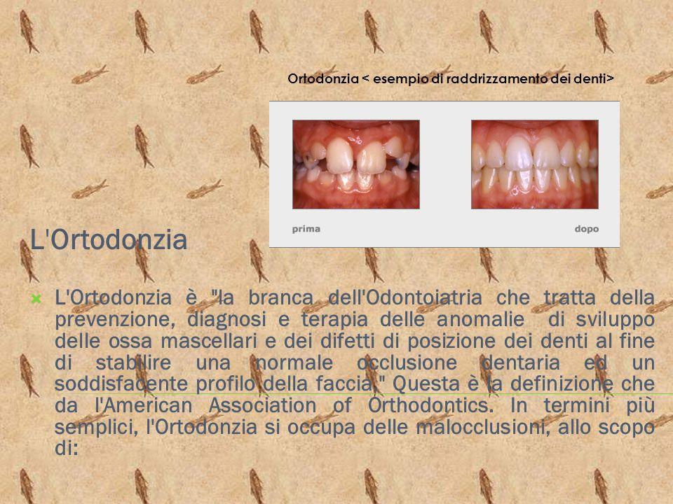 L'Ortodonzia L'Ortodonzia è