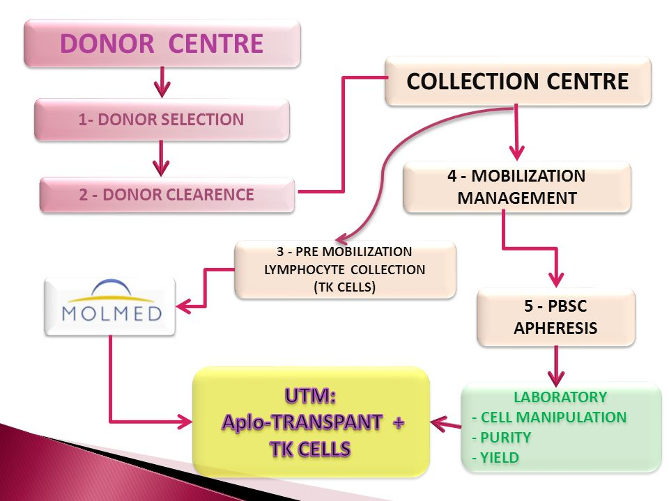 DONOR CENTRE COLLECTION CENTRE 5 - PBSC APHERESIS 5 - PBSC APHERESIS 3 - PRE MOBILIZATION LYMPHOCYTE COLLECTION (TK CELLS) 3 - PRE MOBILIZATION LYMPHO