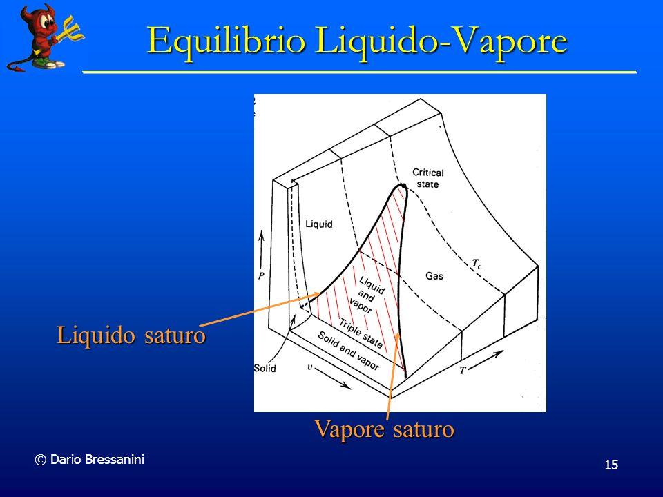 © Dario Bressanini 15 Vapore saturo Liquido saturo Equilibrio Liquido-Vapore