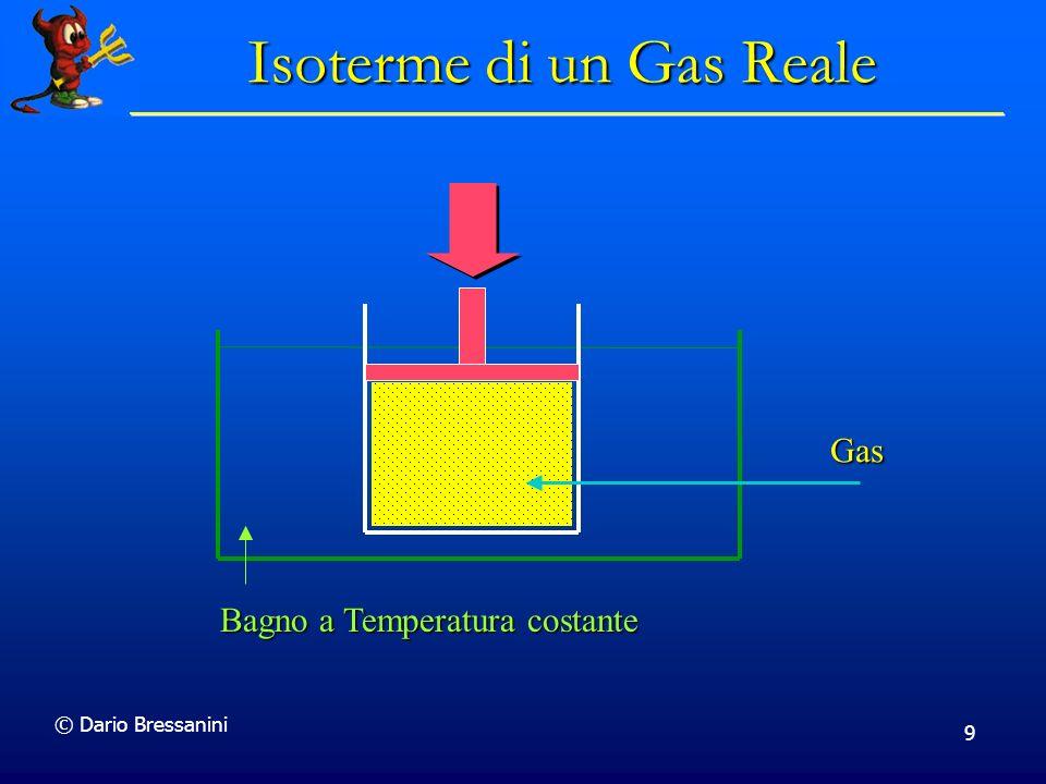 © Dario Bressanini 9 Bagno a Temperatura costante Gas Isoterme di un Gas Reale