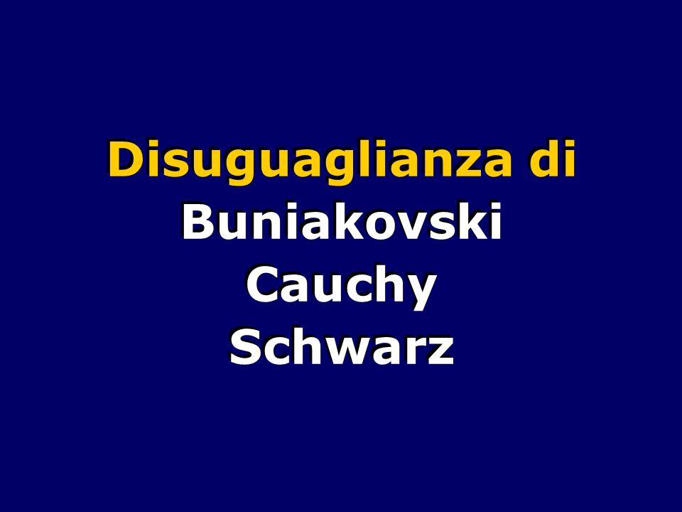 Disuguaglianza di Buniakovski Cauchy Schwarz Disuguaglianza di Buniakovski Cauchy Schwarz