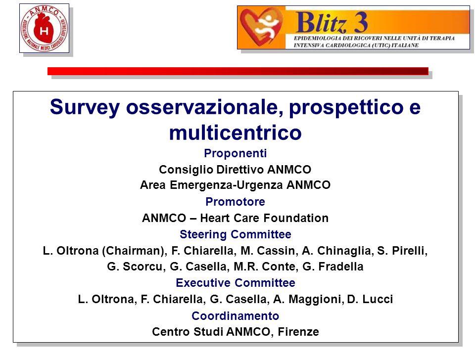 Survey osservazionale, prospettico e multicentrico Proponenti Consiglio Direttivo ANMCO Area Emergenza-Urgenza ANMCO Promotore ANMCO – Heart Care Foun