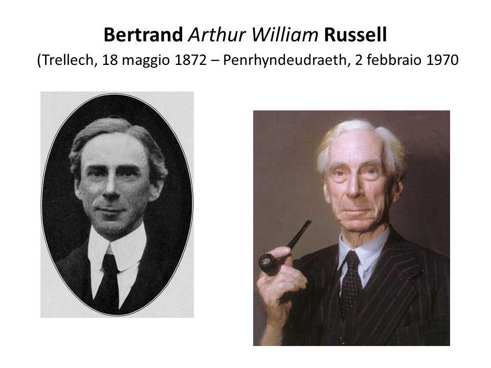 Bertrand Arthur William Russell (Trellech, 18 maggio 1872 – Penrhyndeudraeth, 2 febbraio 1970