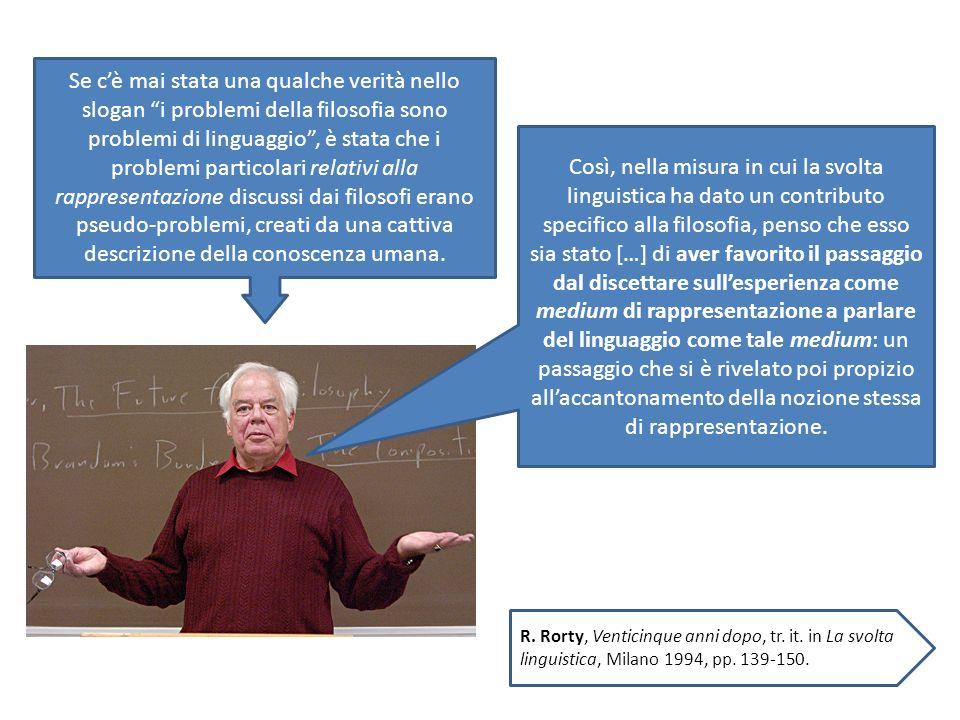 Se cè mai stata una qualche verità nello slogan i problemi della filosofia sono problemi di linguaggio, è stata che i problemi particolari relativi al