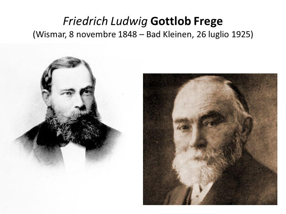 Fondazione logica della matematica Frege fu professore di logica e matematica presso lUniversità tedesca di Jena.