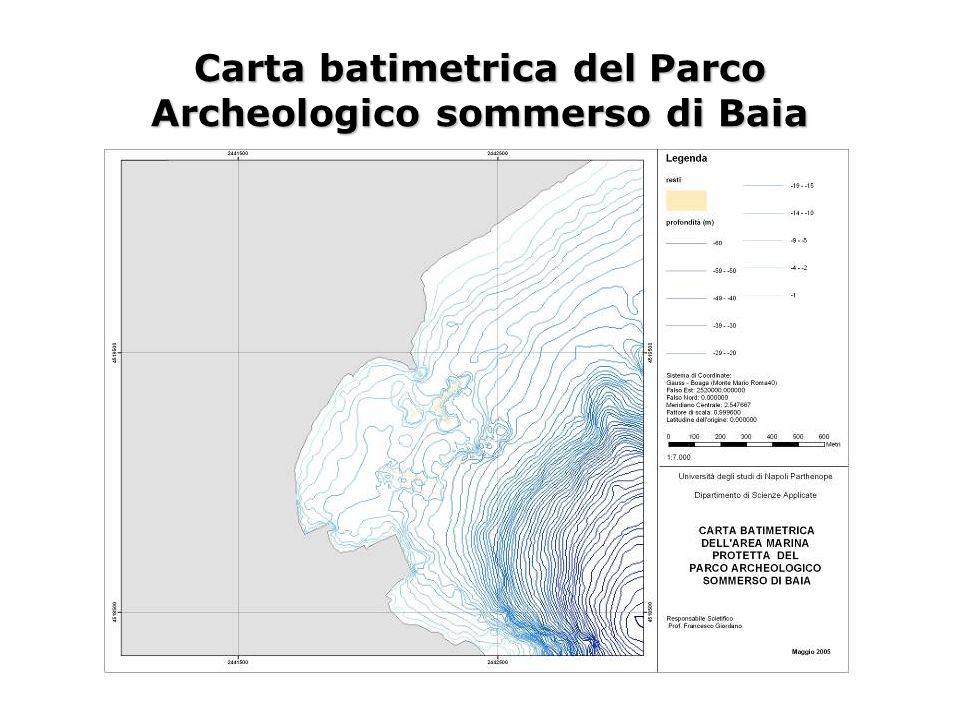 Carta batimetrica del Parco Archeologico sommerso di Baia
