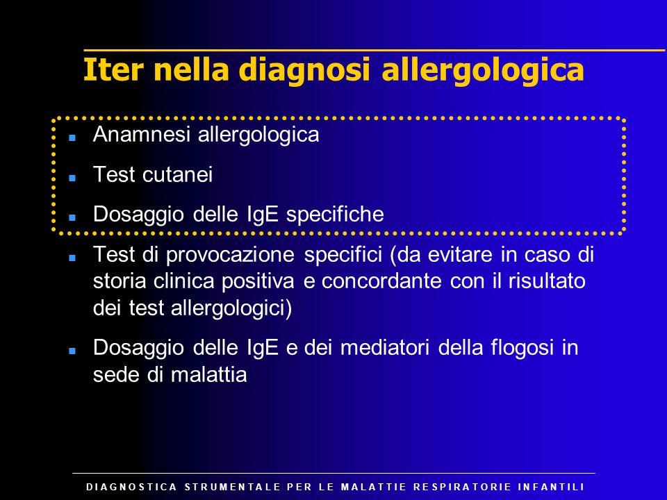 D I A G N O S T I C A S T R U M E N T A L E P E R L E M A L A T T I E R E S P I R A T O R I E I N F A N T I L I Iter nella diagnosi allergologica n An