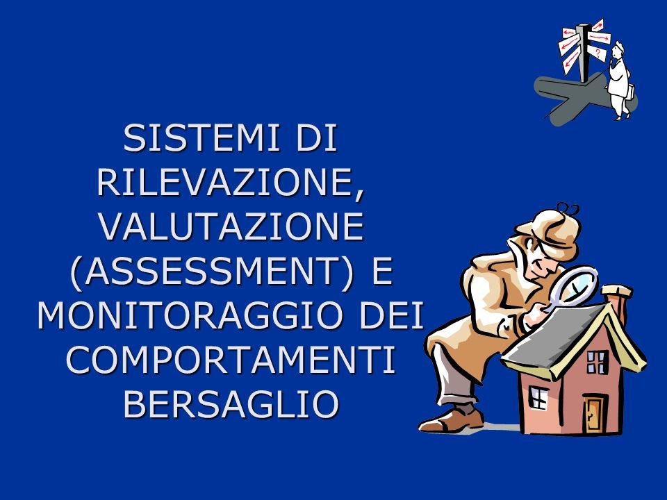 SISTEMI DI RILEVAZIONE, VALUTAZIONE (ASSESSMENT) E MONITORAGGIO DEI COMPORTAMENTI BERSAGLIO