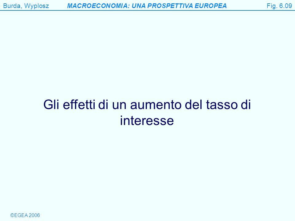 Burda, WyploszMACROECONOMIA: UNA PROSPETTIVA EUROPEA ©EGEA 2006 Figure 6.9 Gli effetti di un aumento del tasso di interesse Fig. 6.09