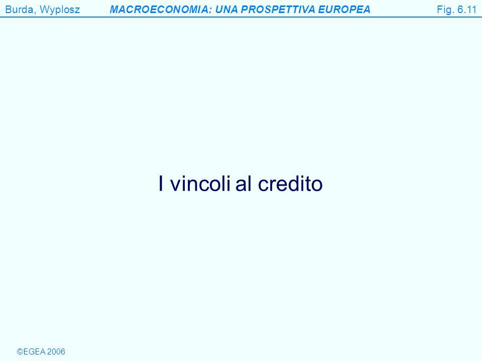Burda, WyploszMACROECONOMIA: UNA PROSPETTIVA EUROPEA ©EGEA 2006 Figure 6.11 I vincoli al credito Fig. 6.11