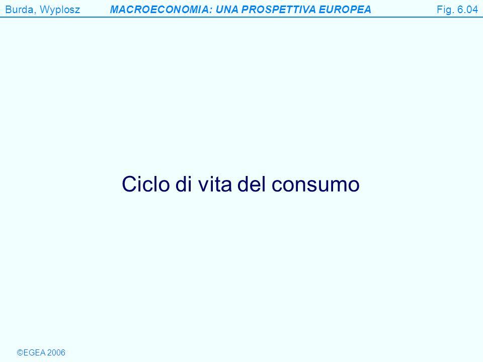 Burda, WyploszMACROECONOMIA: UNA PROSPETTIVA EUROPEA ©EGEA 2006 Figure 6.4 Ciclo di vita del consumo Fig. 6.04