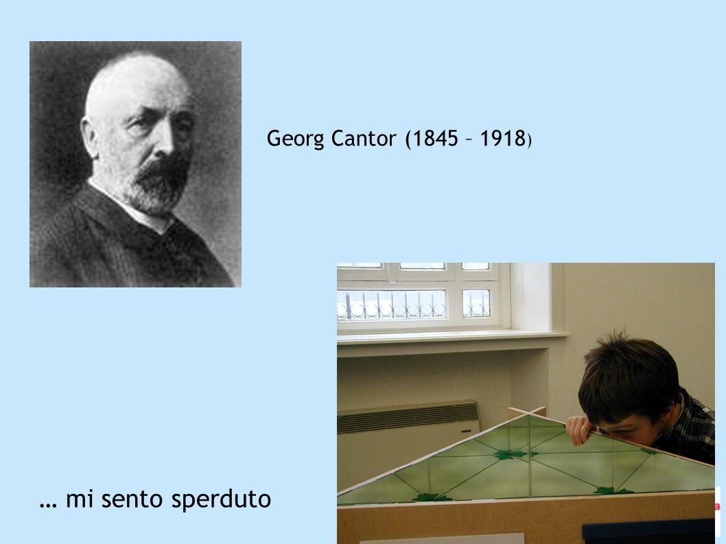 … mi sento sperduto Georg Cantor (1845 – 1918 )