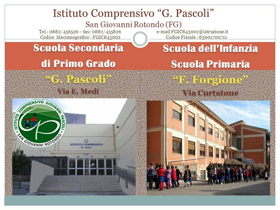 Istituto Comprensivo Giovanni Pascoli San Giovanni Rotondo (FG) www.icpascoliforgione.it Piano dellOfferta Formativa P.O.F. Il LOGO del nostro Istitut