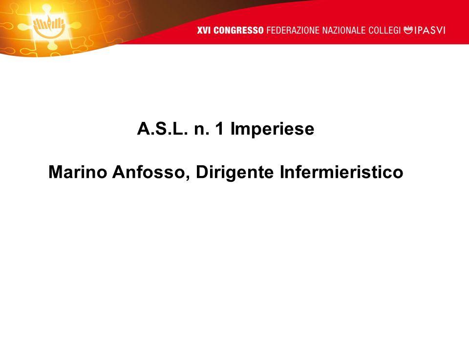 A.S.L. n. 1 Imperiese Marino Anfosso, Dirigente Infermieristico