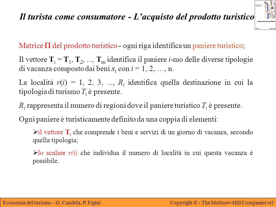 Economia del turismo – G. Candela, P. FiginiCopyright © - The McGraw-Hill Companies srl Il turista come consumatore - Lacquisto del prodotto turistico