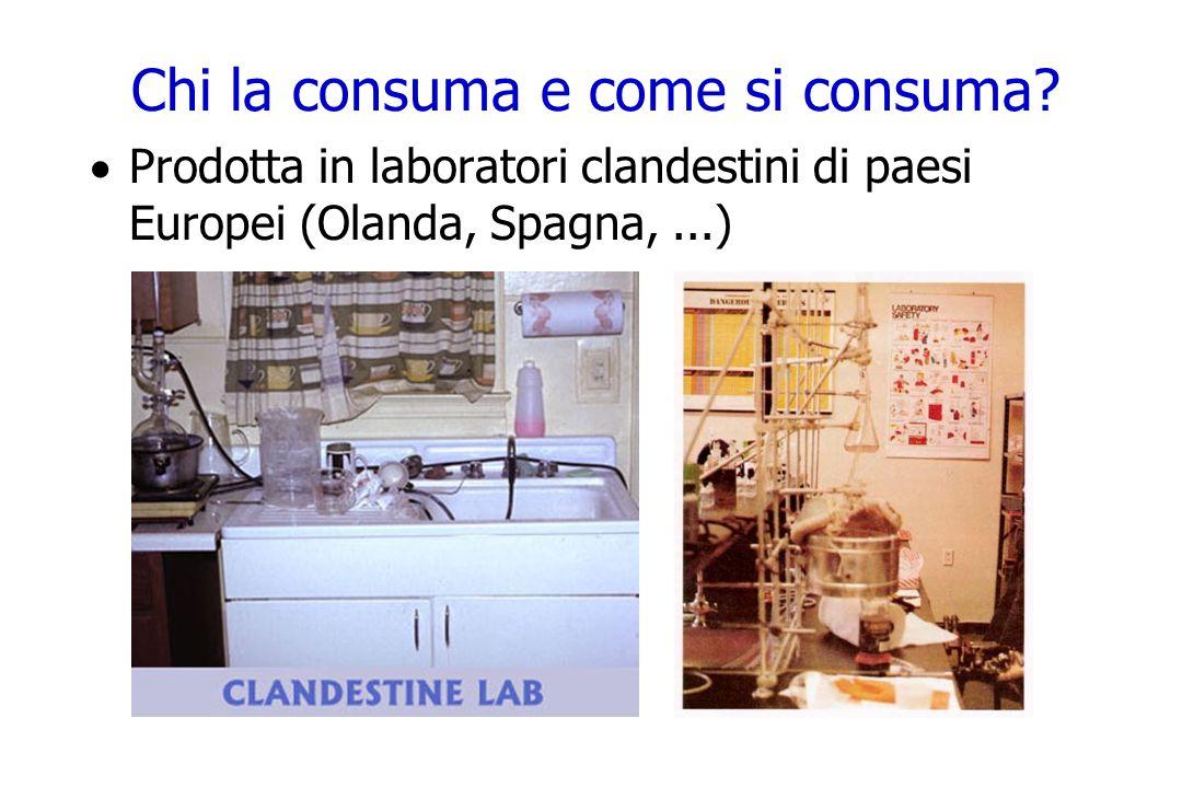 Chi la consuma e come si consuma? Prodotta in laboratori clandestini di paesi Europei (Olanda, Spagna,...)