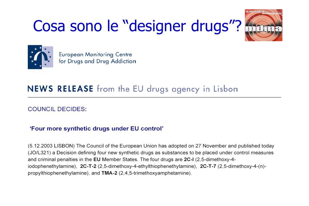 Cosa sono le designer drugs?