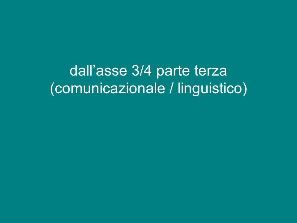 dallasse 3/4 parte terza (comunicazionale / linguistico)