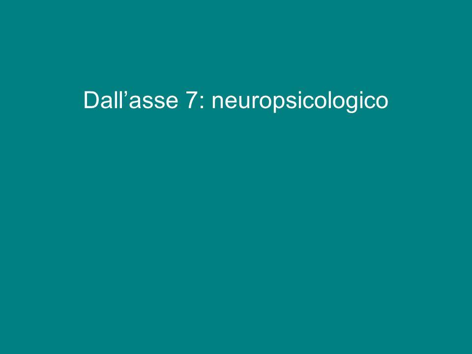 Dallasse 7: neuropsicologico