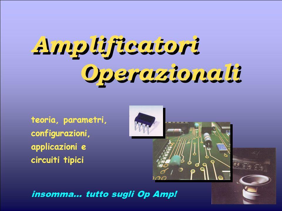 Op Amp 21 2 - Le configurazioni di base 2.7 - Derivatore Se il segnale viene applicato tramite un condensatore il circuito viene denominato derivatore, poiché si dimostra in grado di eseguire loperazione matematica di derivata nel tempo del segnale dingresso.
