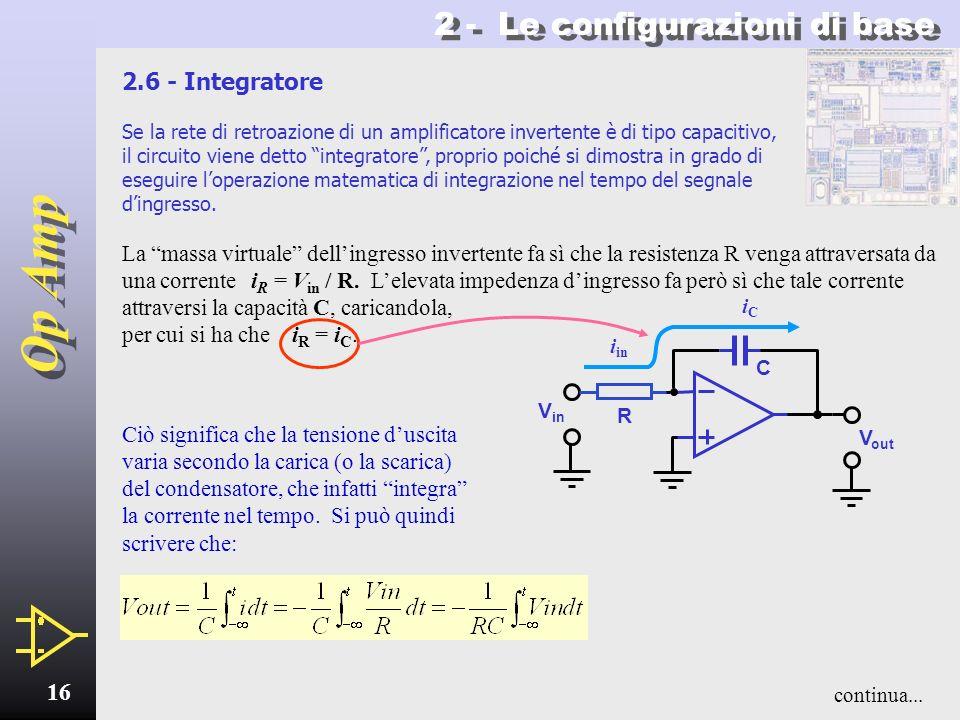 Op Amp 15 2 - Le configurazioni di base Sommatore - 2 ritorna allindice Funzionamento Le tensioni V 1 V 2 V 3 applicate agli ingressi danno origine al
