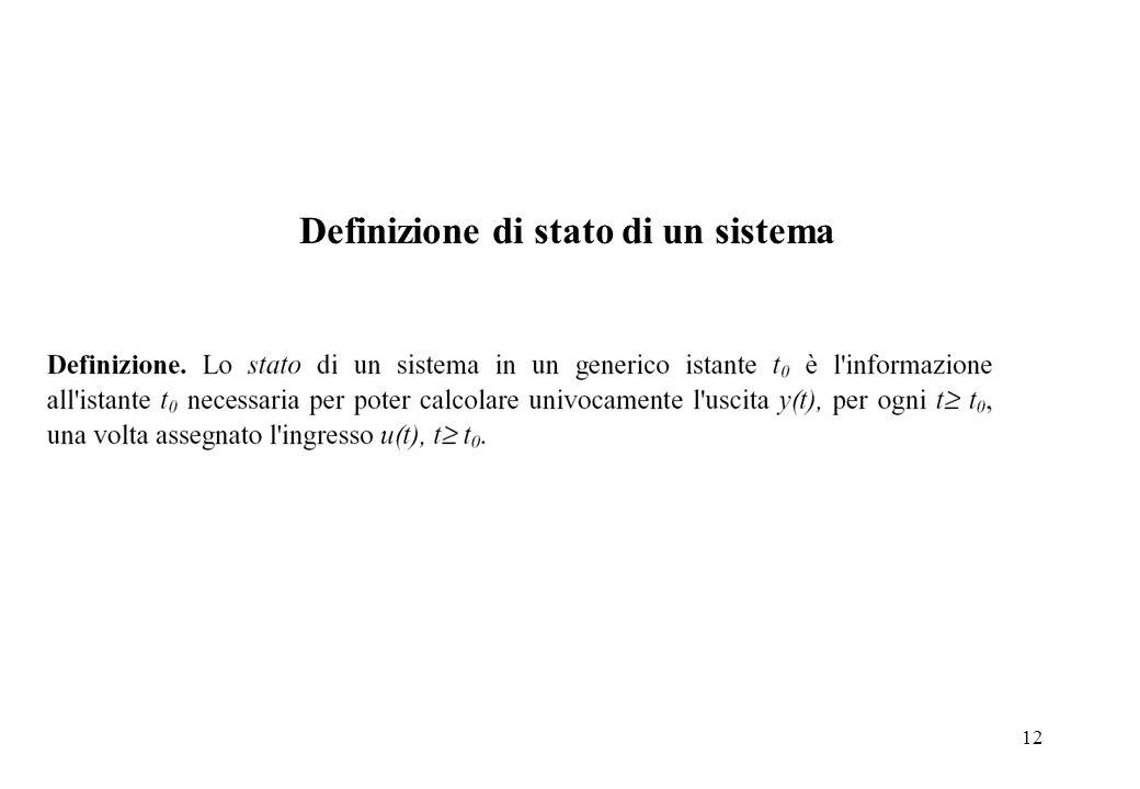 12 Definizione di stato di un sistema