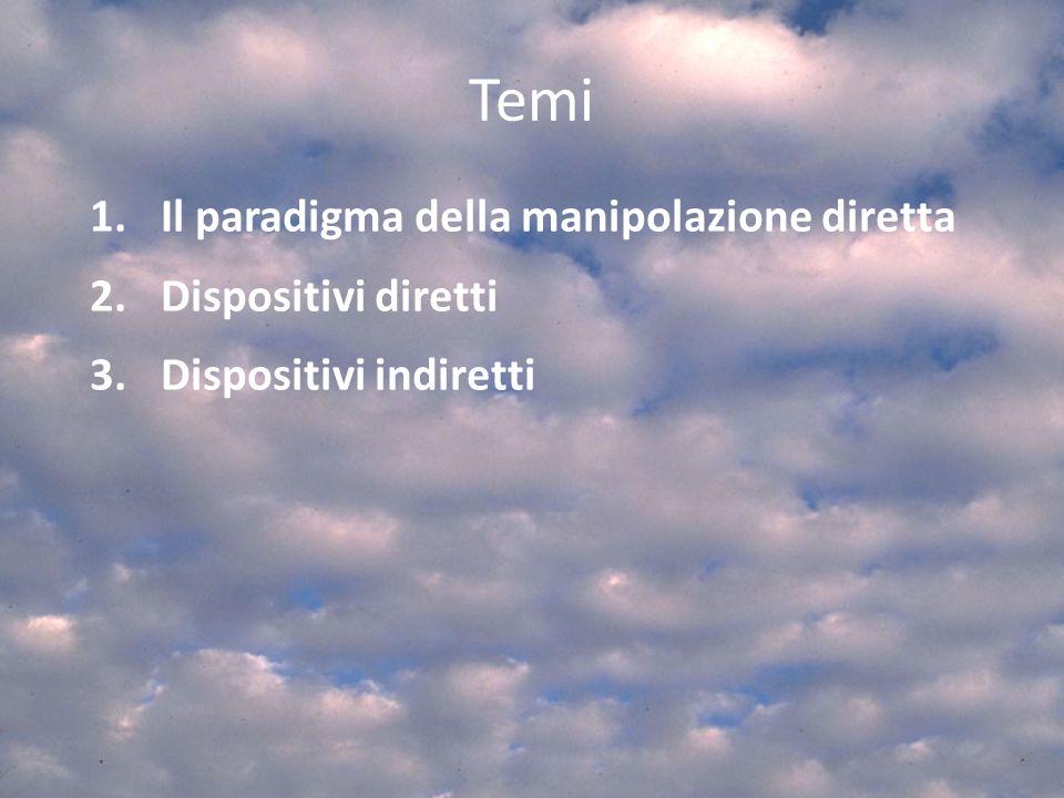 Temi 1.Il paradigma della manipolazione diretta 2.Dispositivi diretti 3.Dispositivi indiretti