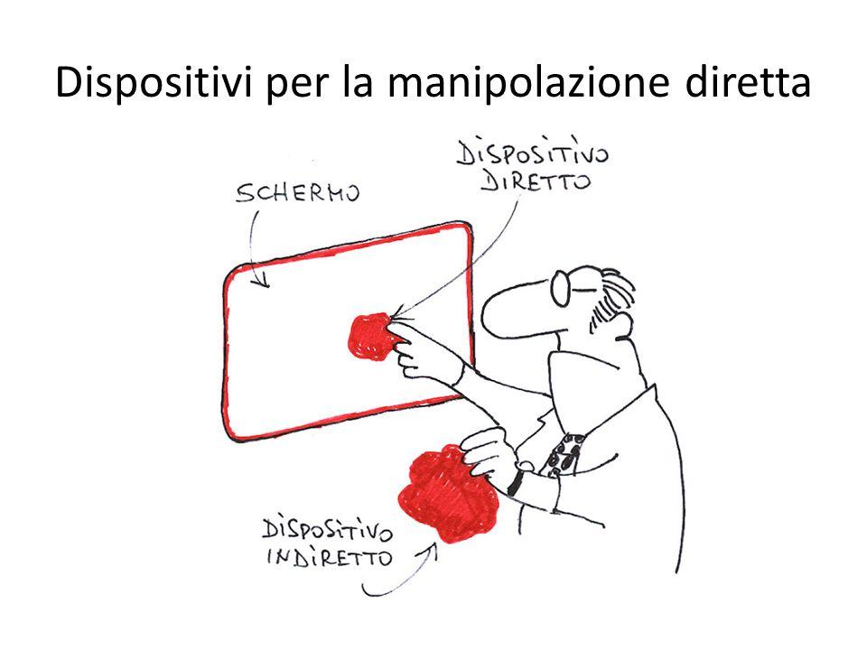 Manipolazione diretta con eye tracking Imprecisione: i movimenti saccadici sono poco controllabili Il problema del tocco di re Mida: occorre confermare la selezione in altri modi (es.