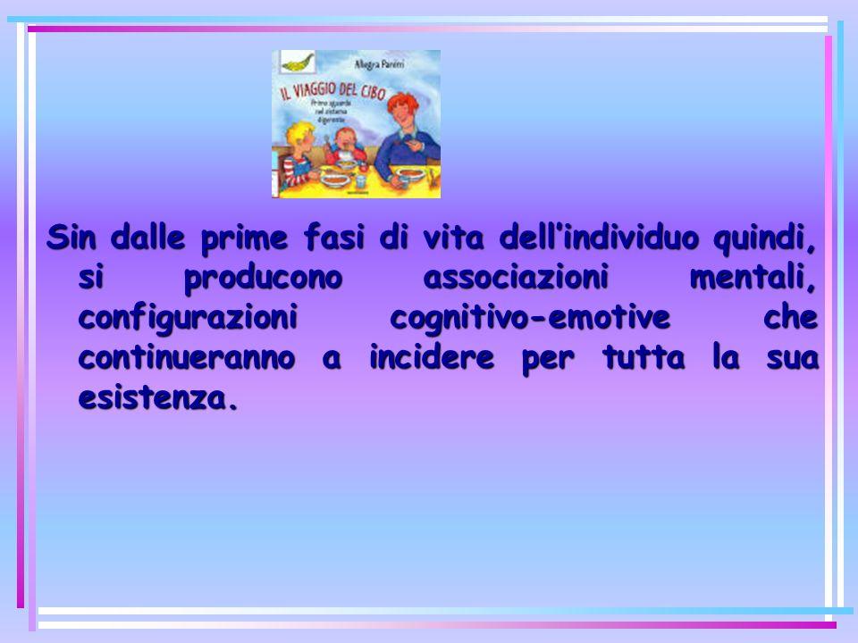 Sin dalle prime fasi di vita dellindividuo quindi, si producono associazioni mentali, configurazioni cognitivo-emotive che continueranno a incidere per tutta la sua esistenza.