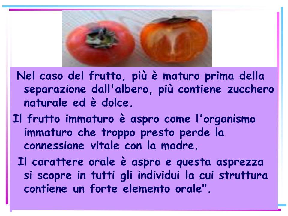 Nel caso del frutto, più è maturo prima della separazione dall albero, più contiene zucchero naturale ed è dolce.