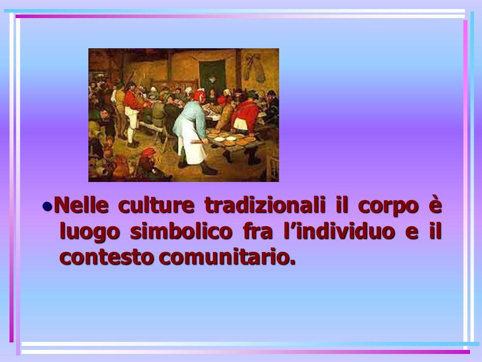 Nelle culture tradizionali il corpo è luogo simbolico fra lindividuo e il contesto comunitario.